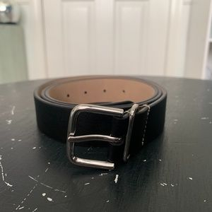 Black and Silver Express Belt